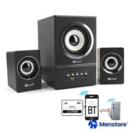 Kisonli Smart Wireless Powerful Bass Speaker Subwoofer Gaming Bluetooth with Remote