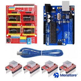 CNC Shield V3.0 Expansion Board with Arduino Uno + 4Pcs A4988 Stepper Motor Drivers