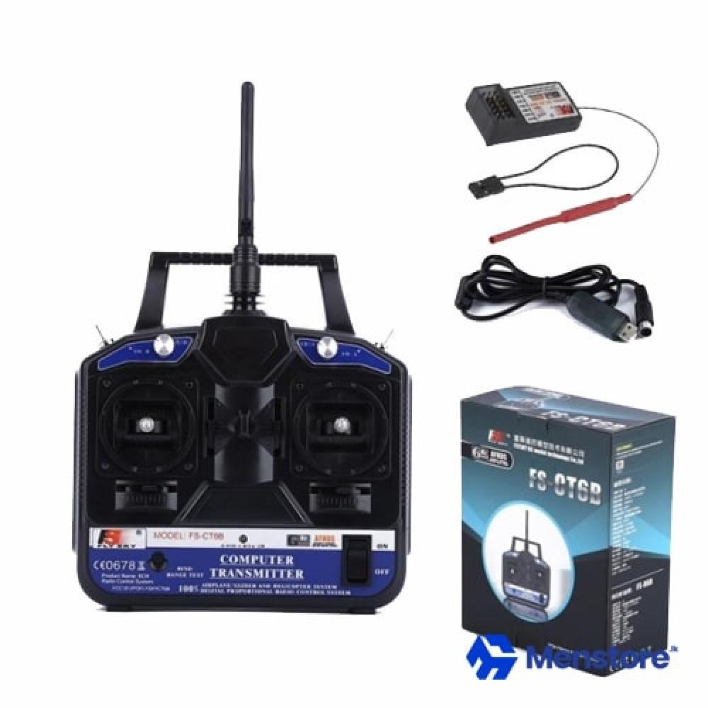 FlySky FS-CT6B 2.4G 6CH RC Transmitter With 6CH Receiver
