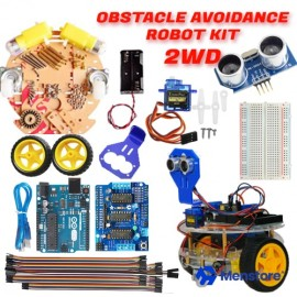 Obstacle Avoidance 2WD Round Double-Deck Smart Robot Car Kit - Pack B