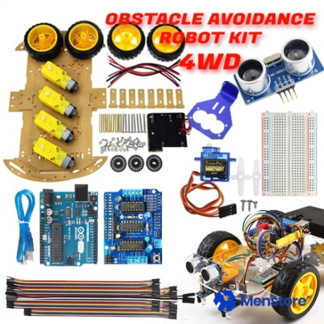 Obstacle Avoidance 4WD Smart Robot Car Kit - Pack A