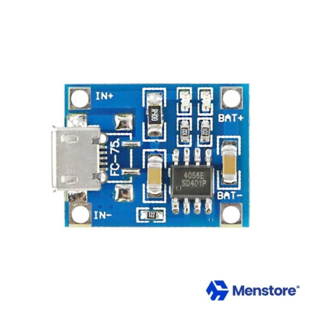 TP4056 / TC4056 5V Micro USB 1A 18650 Lithium Battery Charging Board