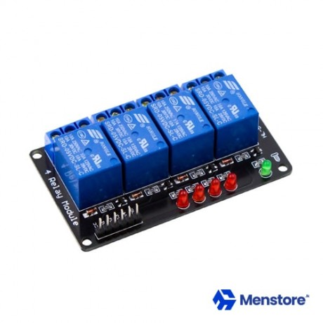 4 Channel Relay Module without Opto-Isolator Protection (5V DC)