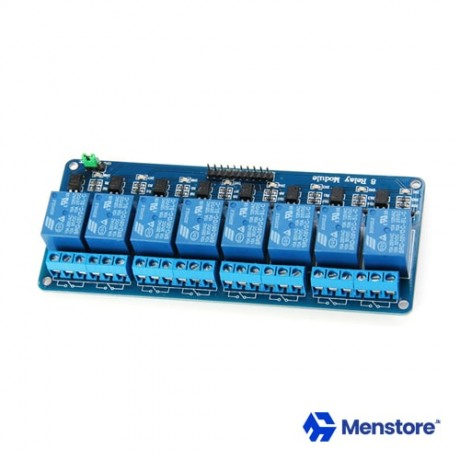 8 Channel Relay Module with Opto-Isolator Protection (5V DC)