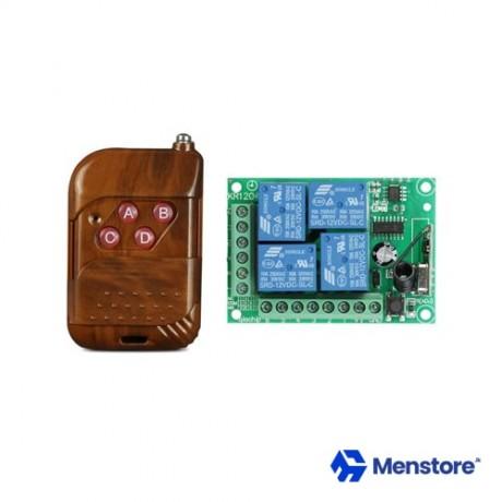 4CH Channel 433Mhz Wireless Remote Control Switch 12V DC