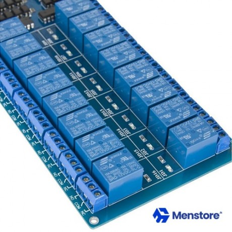 16 Channel Relay Module with Opto-Isolator Protection 12V DC