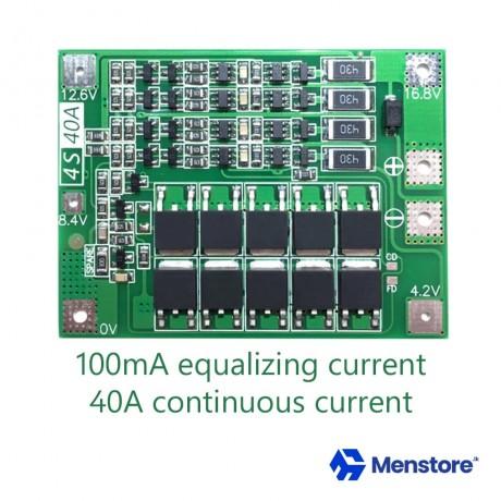 4S 40A 14.8V 16.8V Li-ion BMS PCM Battery Protection Board