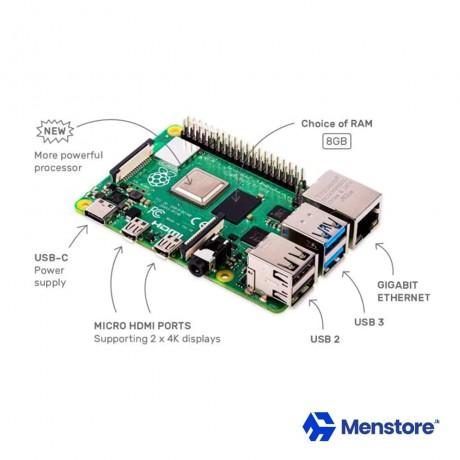 Raspberry Pi 4 Model B 8GB 4 Core CPU 1.5Ghz Development Board