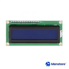 LCD 16x02 Display Interactive Interface Single-Chip Blue