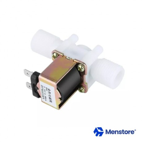 """Electric Solenoid Valve 1/2"""" Plastic DC 12V 0.6A N/C For Water Air"""