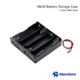 18650 Battery Holder Storage Case For 4 Batteries