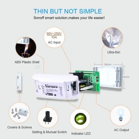 Sonoff Basic WiFi Smart Wireless Switch