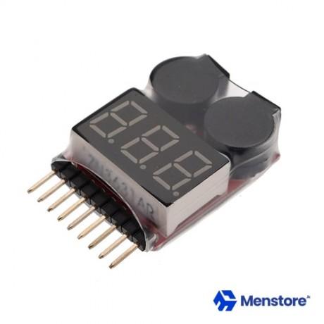 1-8S Li-ion Li-Po Battery Voltage Tester