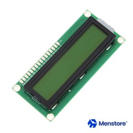 LCD 16x02 Display Interactive Interface Single-Chip Yellow