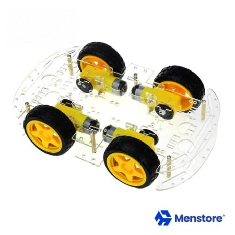 Smart Robot Car Chassis Kits 4WD Speed Encoder Battery Box