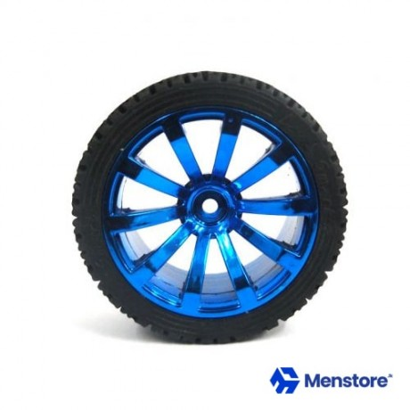 65mm Rubber Tire With Sponge Hexagon Hole 1:10