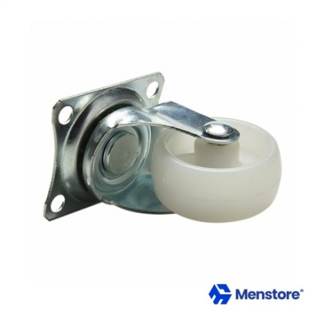 Universal Caster Wheel White PP Nylon Dual Roller