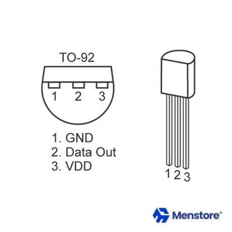 DS18B20 18B20 T0-92 Temperature Sensor